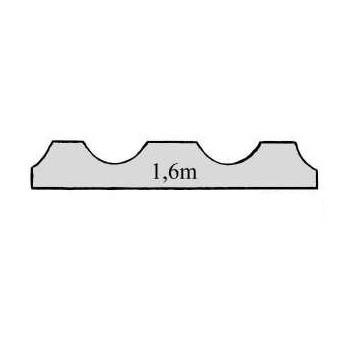 Auslauf-Artikel!!Leiste Rillenleiste Fichte/Tanne ca. 50mm breit/9mm dick/1,6m lang, Art.9050