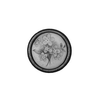 Möbelknopf mit Keramik-Dekor-Einlage ca.Ø 29mm, Art.43229