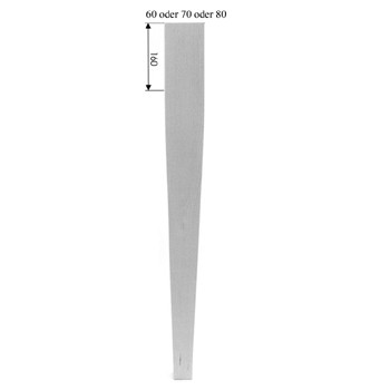 Eckiges Tischbein Art. 63107 Maße: 70*70mm, ca. 760mm lang