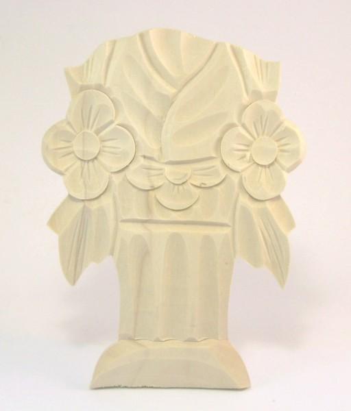 Geschnitzte Auflage Art. 65010 Maße: 153*105 mm, 10 mm dick, Linde