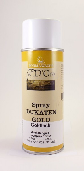 Goldlack Spray Dukatengold 400ml, Art. 8302d