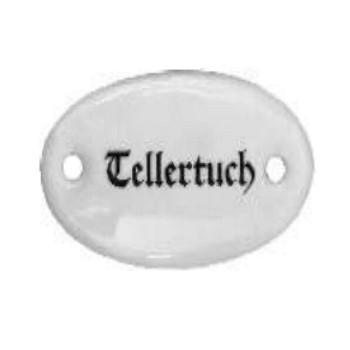 Porzellanschild Tellertuch, Art. 4550