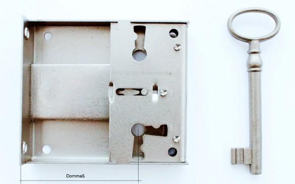 Kastenschloß Stulpe ca. 64*20 mm, Dornmaß 15- 100mm, Art. 5015