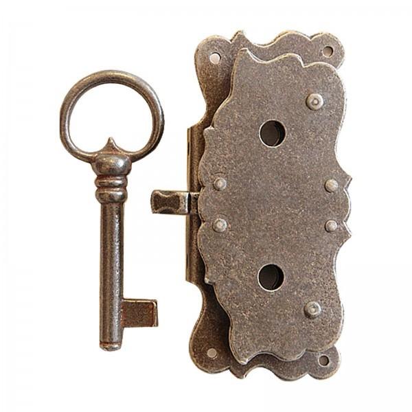 Schrankschloss Art.5095 Eisen alt mit Schlüssel D: 25-40mm