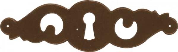 Beschlag Art. 1644 in Messing oder Eisen alt ca. 37*126mm - Auslauf-Artikel!!!