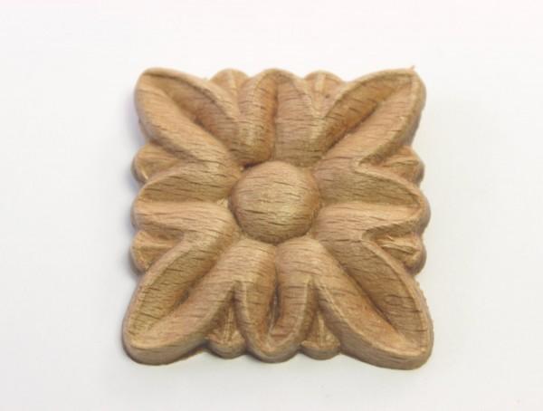 Holzzierteil Rosette Buchenholz, ca.35*35mm, Art.7435
