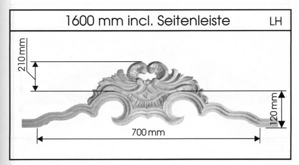 Bogen-Kopfleiste geschnitzt Art 91008 Bestellartikel