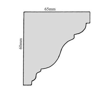 Leiste Kopfleiste Fichte/Tanne ca. 60*65mm, Art.9006neu