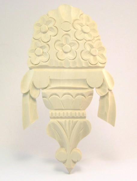 Geschnitzte Auflage Art. 65013 Maße: 110*195 mm, 10 mm dick, Linde