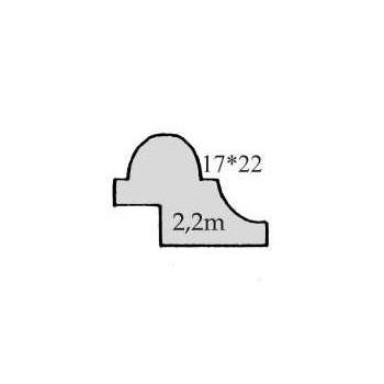 Leiste Art. 9021 Fichte/ Tanne. Maße: 17*22mm, ca. 1,99m lang