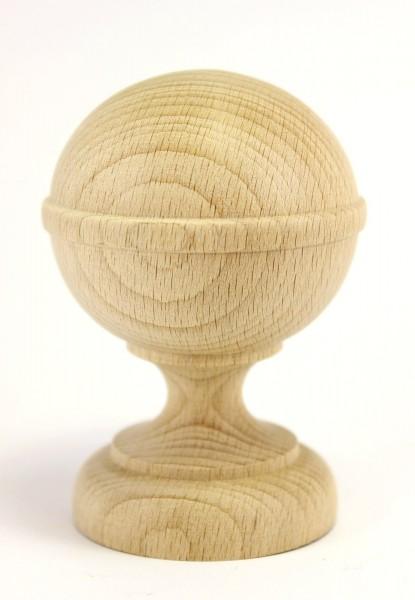 Holzzierteil Zierkugel aus Buche Maße: 66*95mm, Art.6046neu