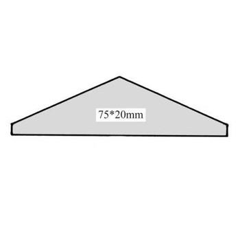 Leiste Dachleiste BUCHE, Art.9035 ca.75*20mm/1m lang - AUSLAUF-ARTIKEL!