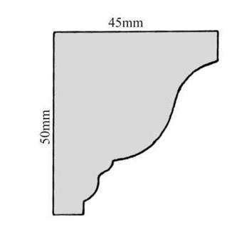 Leiste Kopfleiste Fichte/Tanne ca. 50*45mm, Art.9007neu