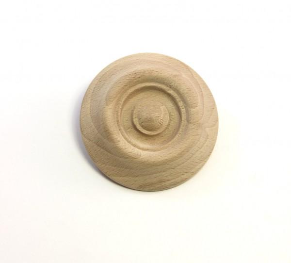 Holzzierteil Art. 7019 Buchenrosette. Maße: 52mm Ø