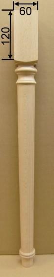 Tischbein Art. 63124 Maße: 60*60 mm, 760mm lang