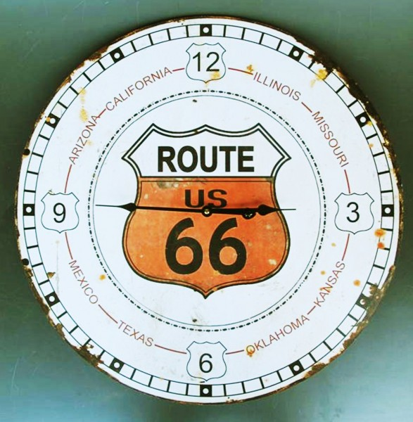 "Wanduhr ""Route 66 ""(Batteriebetrieb) Ø ca.60cm, Art.7191"