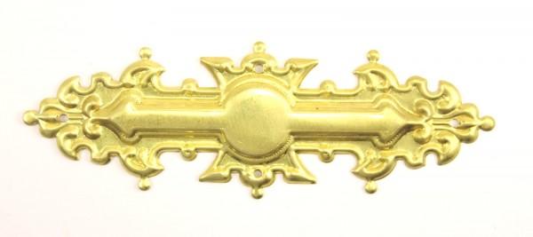 Beschlag Art. 1702 in Messing oder Nickel, 116*39mm