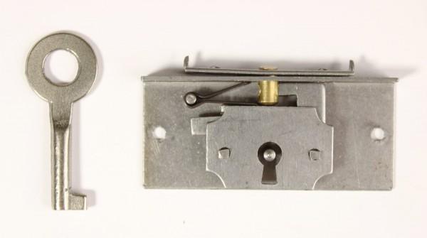 Einlass- Schatullen- Schloß Eisen roh - ca.11mm Dornmaß, Art. 5511e