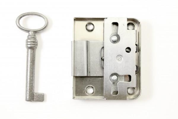 Kastenschloß- klein 35x60 mm, 15 - 40mm Dornmaße, Art. 5012