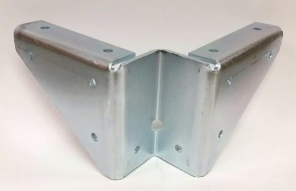 Tischzargen Eckverbinder 74x88mm, Stahl verzinkt