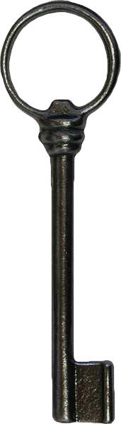 Truhenschlüssel aus Eisen mit Länge 170mm, Art. 5078