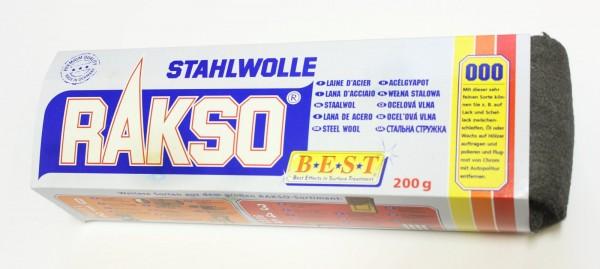 Rakso Stahlwolle Sorte: 000 sehr fein, Art.498