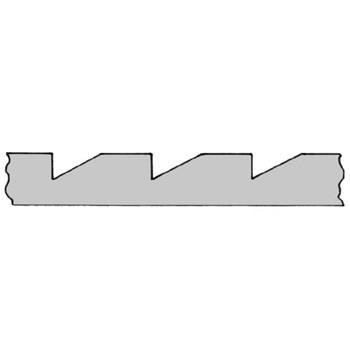 Leiste Zahn-Leiste Buche ca.18*18mm/ca. 1,98m lang., Art. 9034B