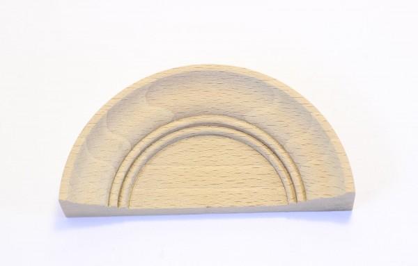 AUSLAUF-Artikel!!! kleiner Muschel-Aufsatz aus Buche, Maß: Ø 90mm Art 7025