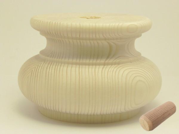 Kugelfuss Art. 6012 Tanne, 130Ø*82mm