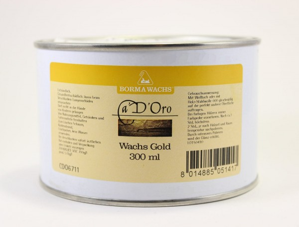 Goldwachs gold 300ml, Artikel 8307neu