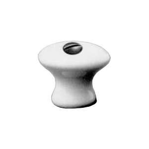 Möbelknopf Porzellanknöpfe weiss glatt Ø ca.23mm, Art.4624