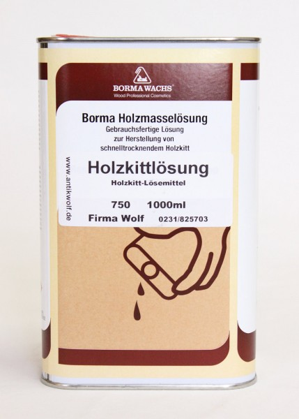 Holzkittlösung Borma 1 Liter, Art.750