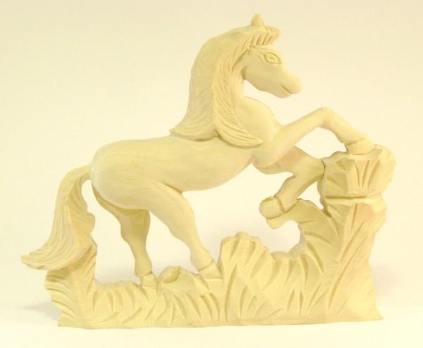 Holzzierteil Pferd ca.130*130mm handgeschnitzt aus Linde, Art. 7048h