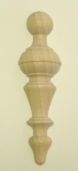 Halbsäule Art. 6051 Schrankauflage halbiert klein in Buche. Maße: 116*31mm