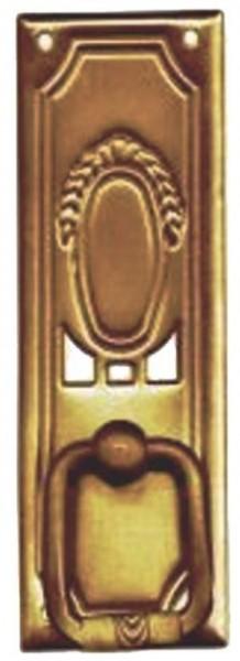 Beschlag Art. 12531 Messing patiniert Maße ca. 27*79mm