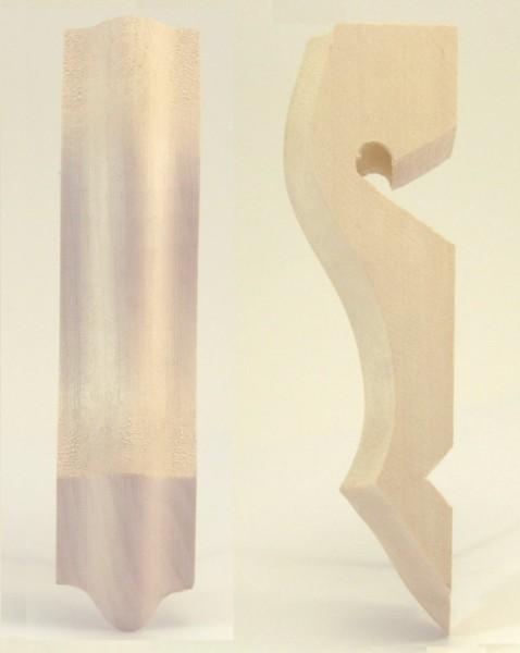 Holzzierteil Art. 6029 Biedermeierschnecke, Linde, 140*35 mm, 40mm hoch
