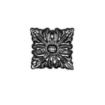 Rosette Art. 3424 Messing ca.24x24mm - Auslauf-Artikel!