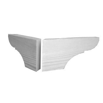Brettfuss Art. 6056 Tanne, 2 Teile. Maße: 220*90mm, 30mm dick