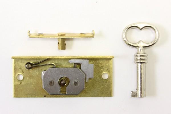 Auslauf-Artikel!! Einlass- Schatullen- Schloß aus Messing 11mm Dornmaß, Art. 5511