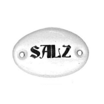 Porzellanschild Salz, Art. 4542