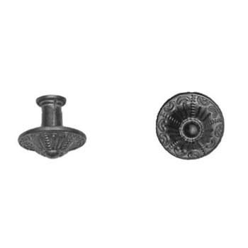 verzierter Möbelknopf Art. 1486 Messing gegossen Ø 24mm
