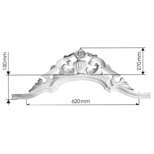 Aufsatz Art. 91006 Aufsatz aus Lindenholz mit gerader Seitenleiste - Bestellartikel